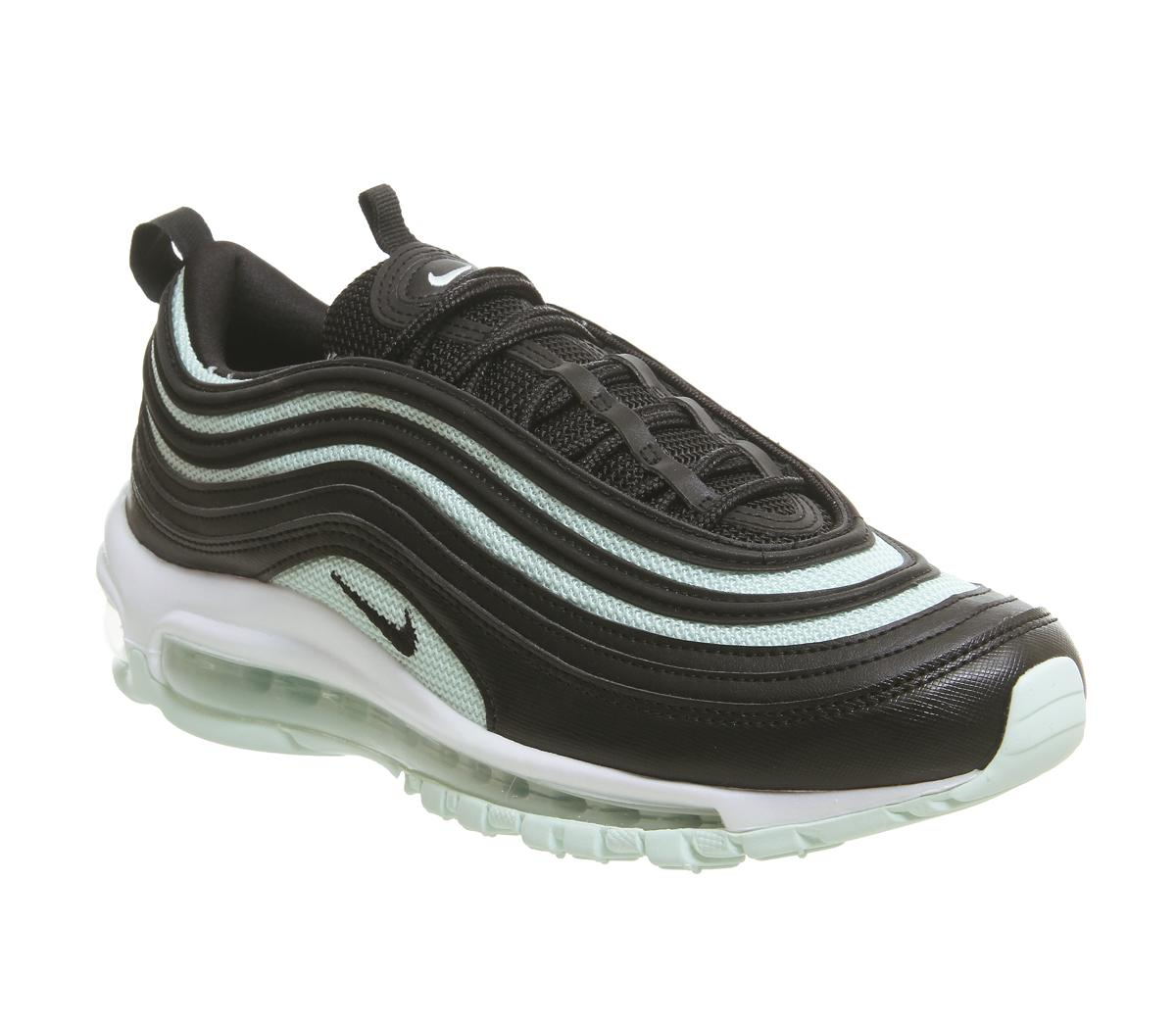 Nike Air Max 97 Trainers Black Black Igloo White Sneaker damen