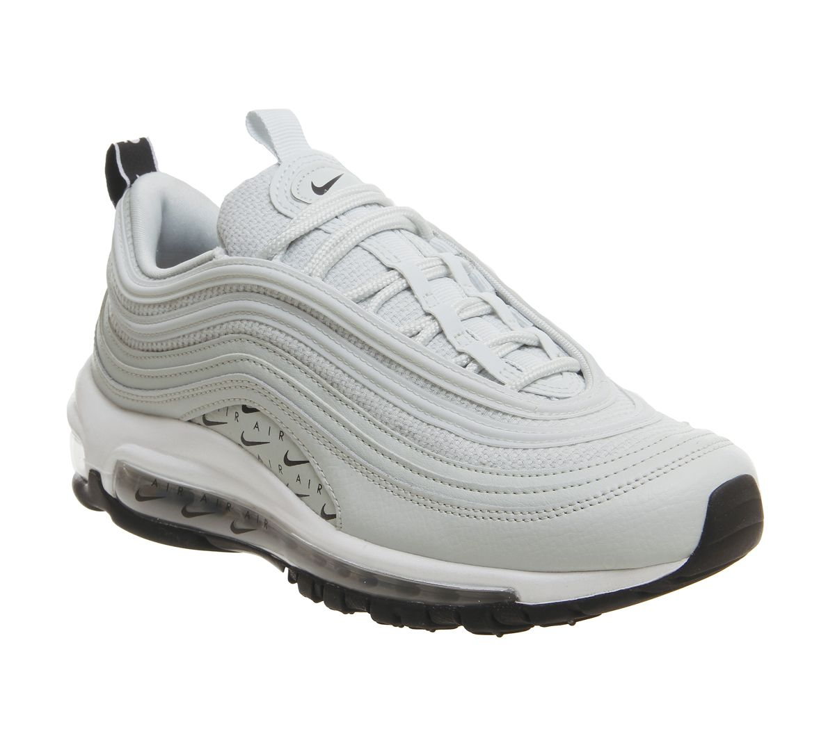Nike Air Max 97 Trainers Silver Black White - Hers trainers