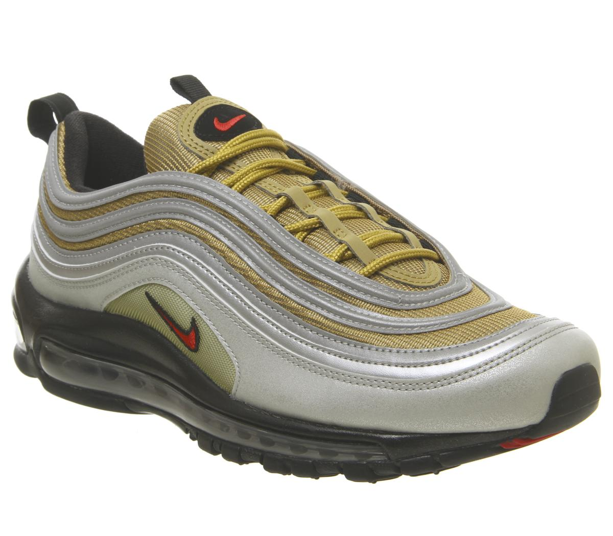 Nike Air Max 97 Trainers Silver Gold Black - Sneaker herren