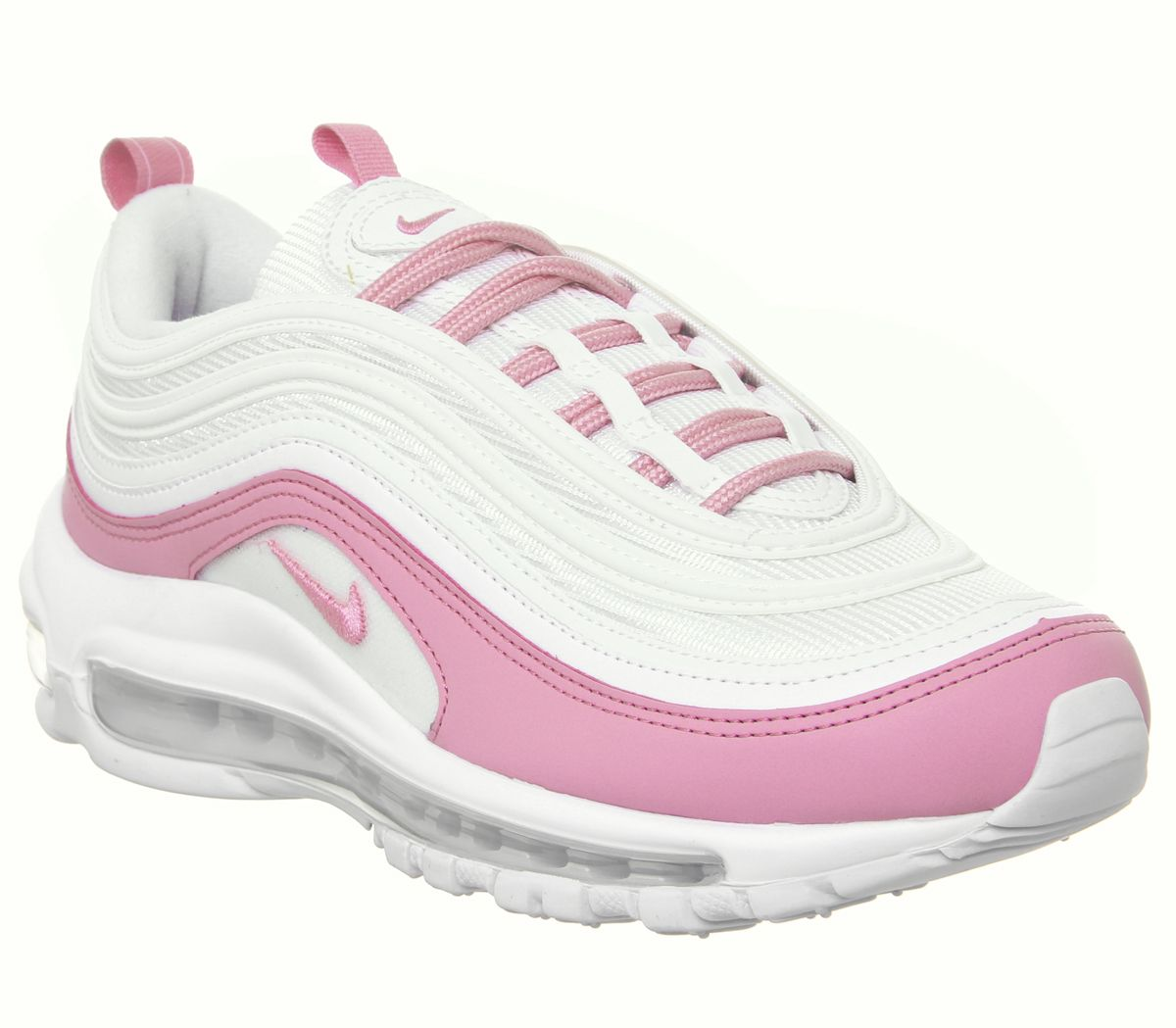 online retailer 7199c 9df0d Nike Air Max 97 Trainers White Psychic Pink - Hers trainers
