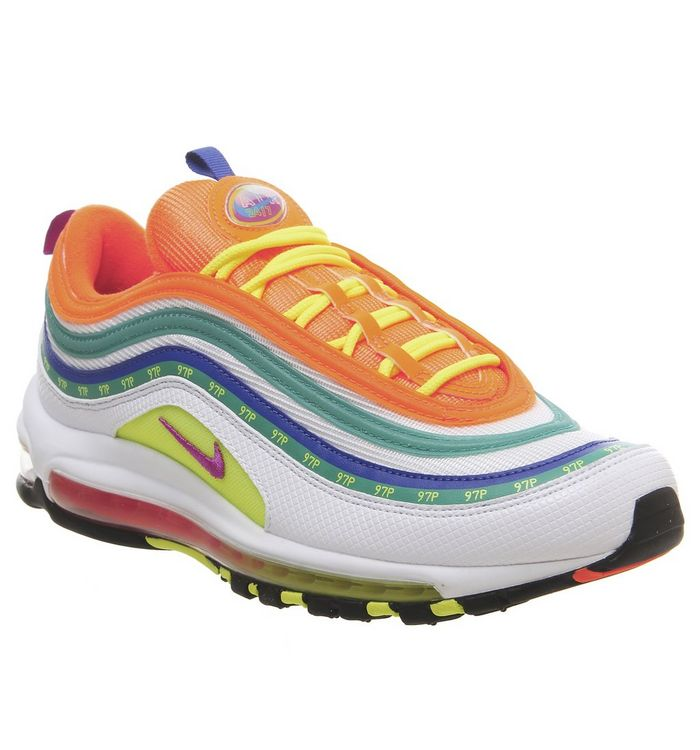 newest 2d0cc 68e7e Air Max 97 Trainers  Nike, Air Max 97 Trainers, Oa Jl White Hyper Violet  Volt Total Orange ...