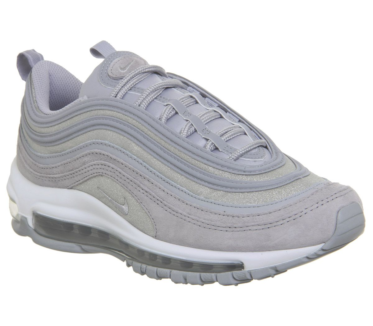 ef7993d732 Nike Air Max 97 Trainers Wolf Grey Pure Platinum White Glitter F ...