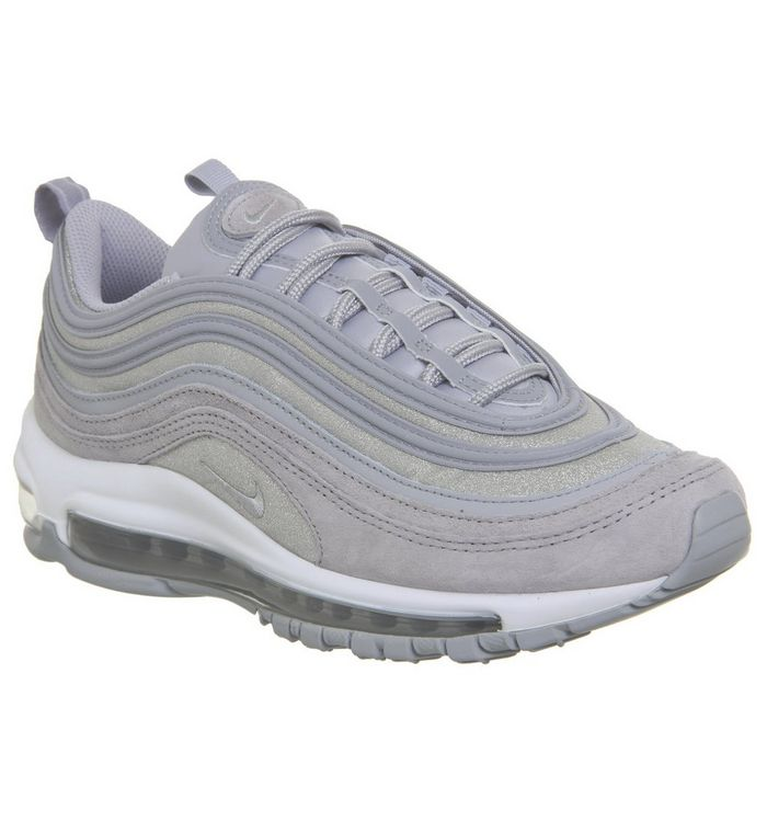 best loved 088c3 4c119 Air Max 97 Trainers  Nike, Air Max 97 Trainers, Wolf Grey Pure Platinum  White Glitter F ...