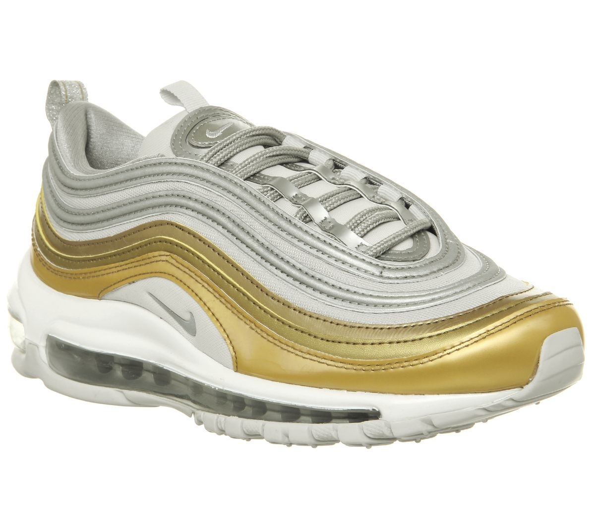 d5270485eaaf10 Nike Air Max 97 Trainers Vast Grey Mtlc Silver Gold Summit White ...