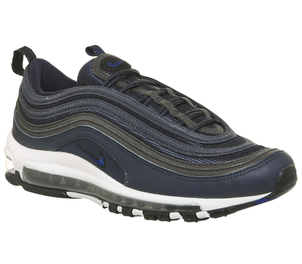 9353f3c336 Nike Air Max 97 Trainers Obsidian White Black White - Hers trainers