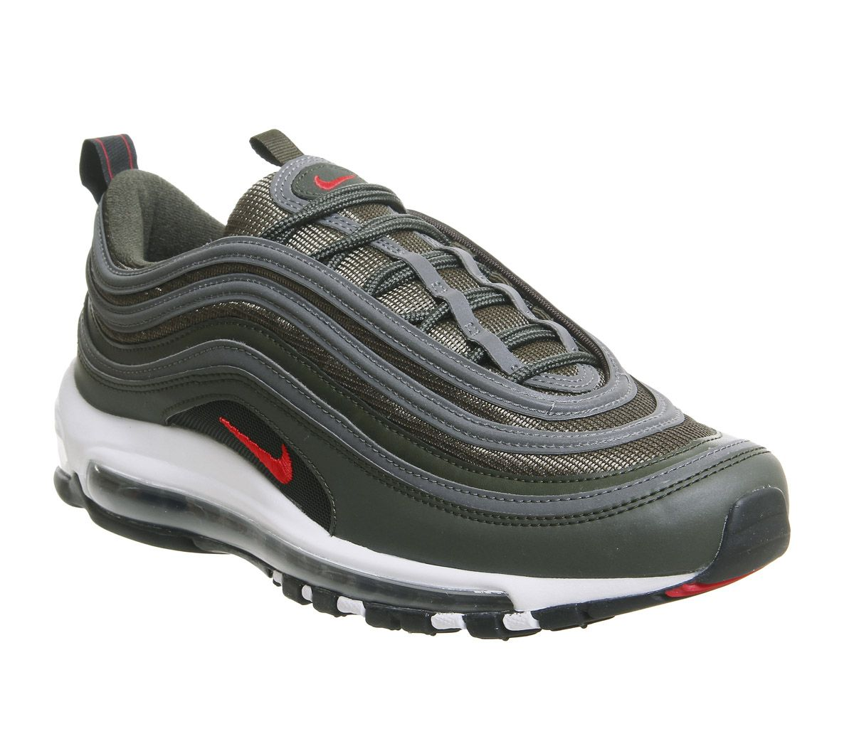 b0ed1bdd Nike Air Max 97 Trainers Sequoia University Red Metallic - Men's ...