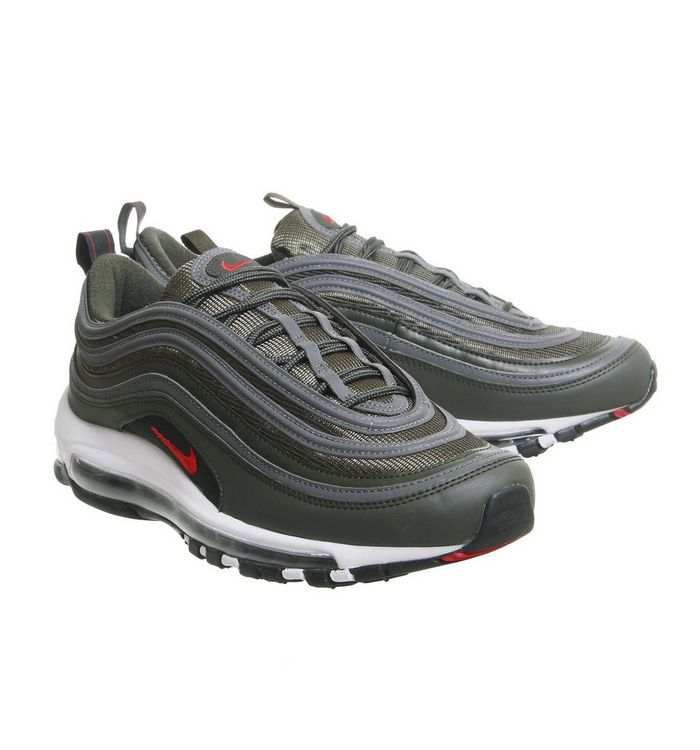 acd82563 Air Max 97 Trainers; Nike, Air Max 97 Trainers, Sequoia University Red  Metallic ...