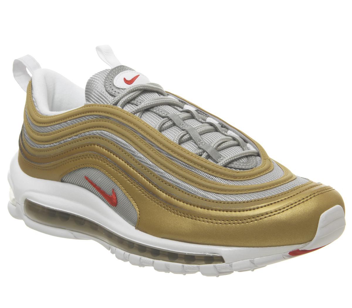 air max 97 silver gold