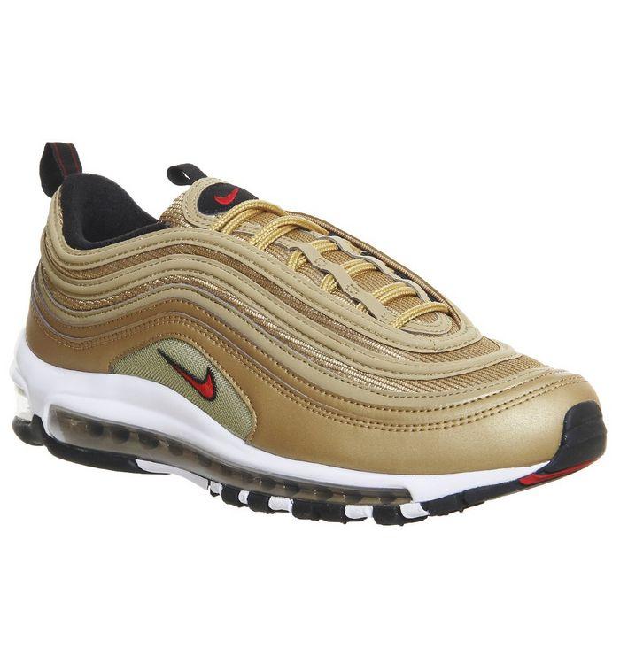 big sale c3d90 dea9c Air Max 97 Trainers  Nike, Air Max 97 Trainers, Metallic Gold Varsity Red  Black White ...