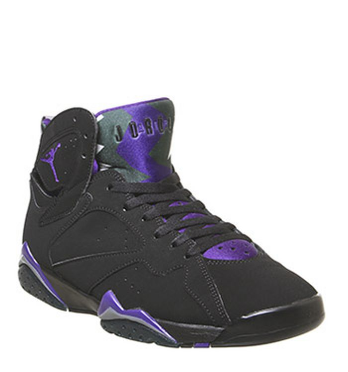 5d4d04af2d6 Launching 01-06-2019. Jordan Jordan Retro 7 Trainers Black Field Purple Dark  Steel Grey