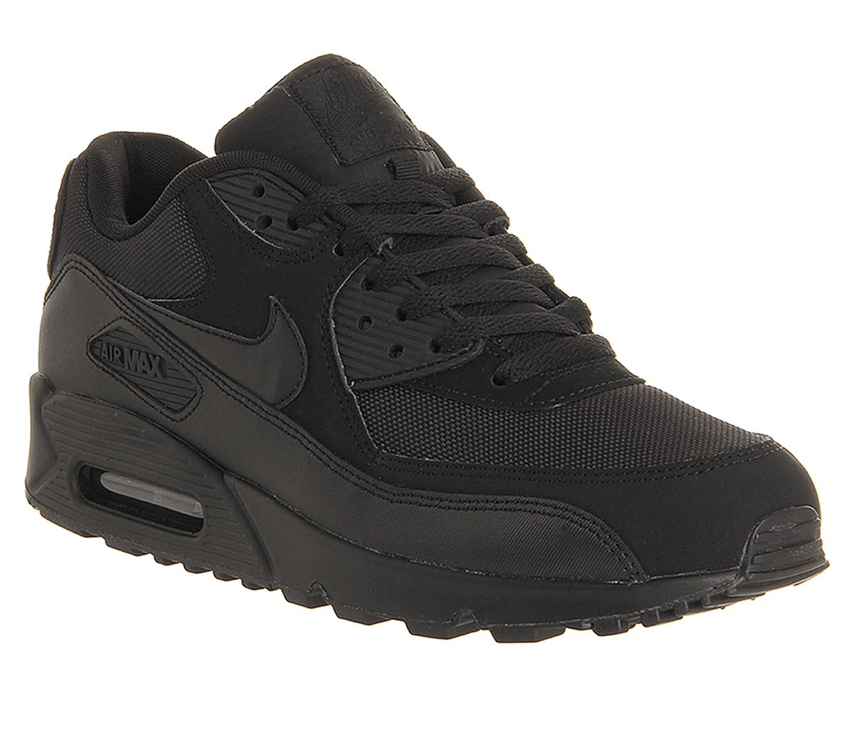 nike air max 90 junior leather black