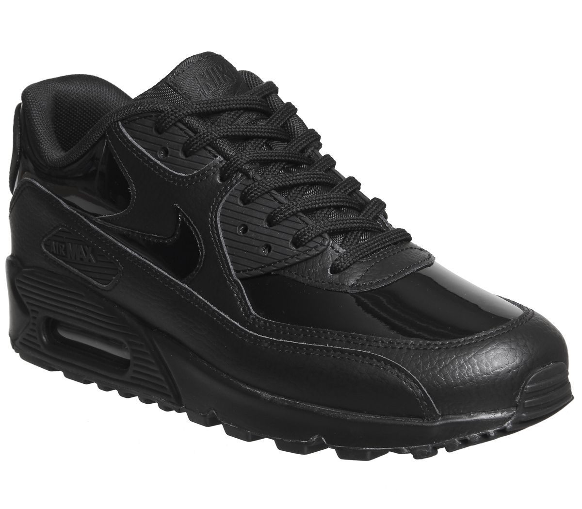 8869745902 Nike Air Max 90 Trainers Black Patent - Unisex Sports
