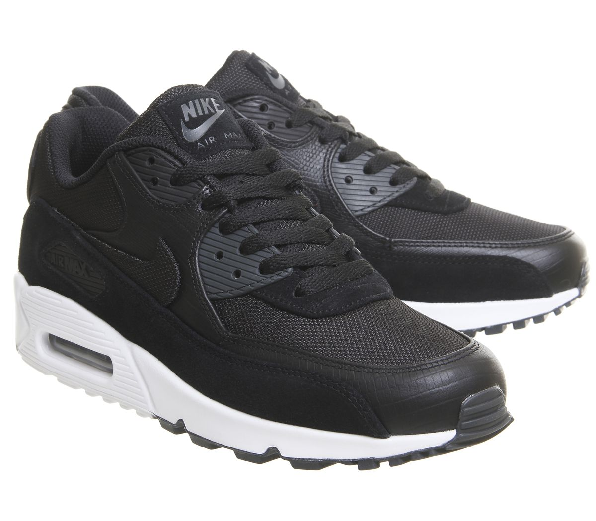 4065cc55b9 Nike Air Max 90 Trainers Black White Anthracite - His trainers