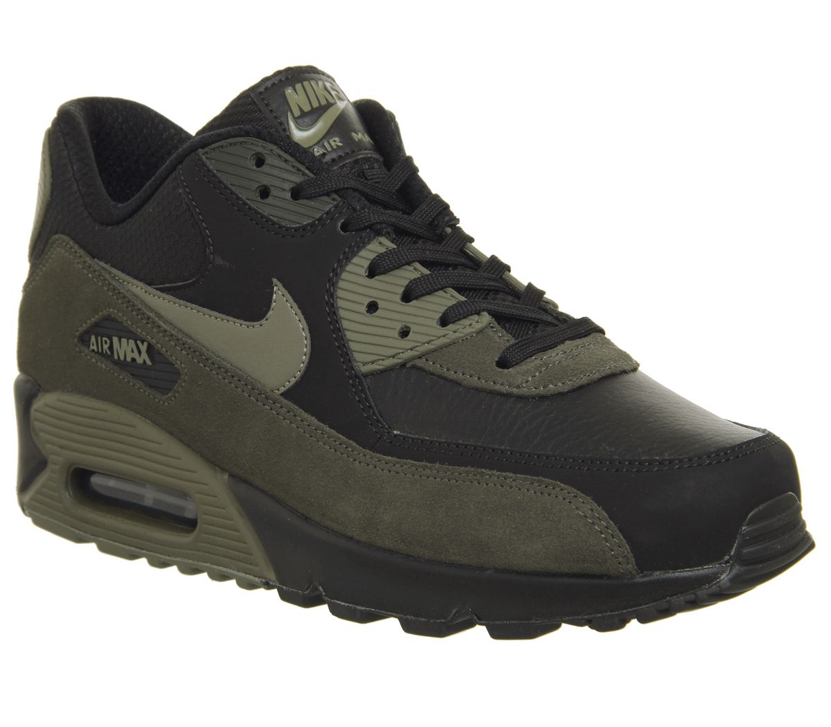 detailed look 423cb aea2f Nike Air Max 90 Trainers Black Medium Olive Sequoia - His trainers
