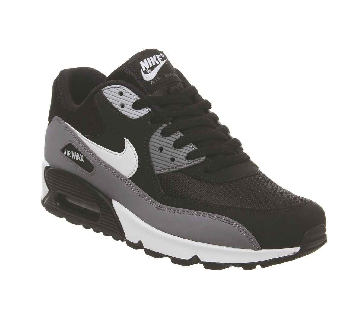 ef85dc2766 Nike Air Max 90 Trainers Black White Cool Grey Anthracite - His trainers
