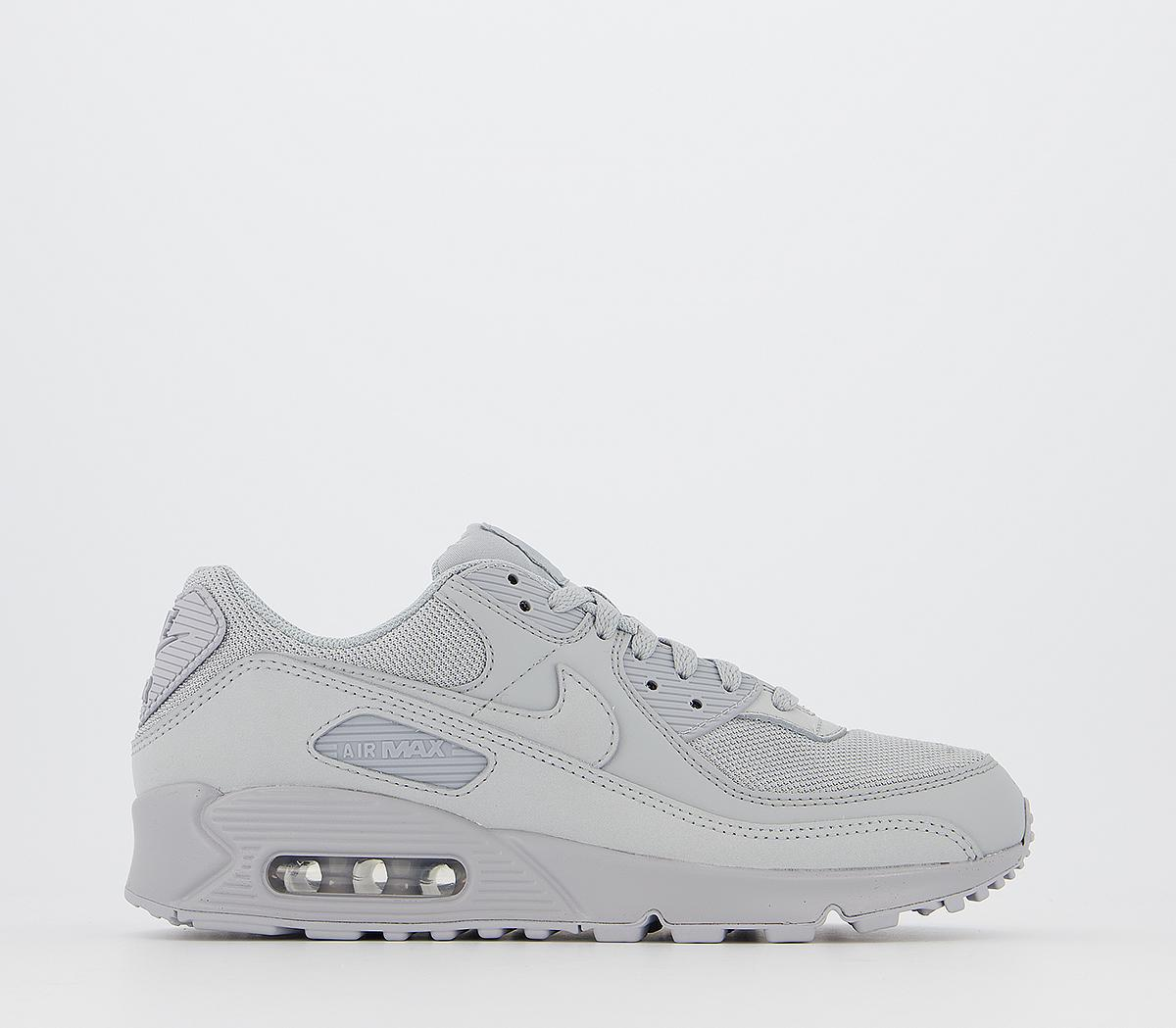 Nike Air Max 90 Trainers Wolf Grey Wolf