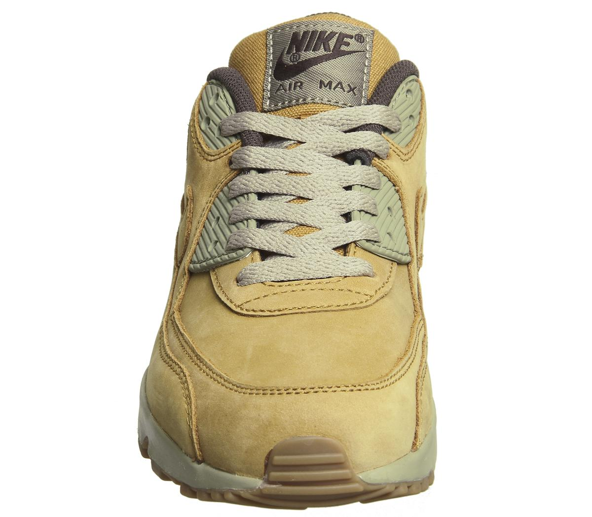 Nike Air Max 90 Trainers Flax Flax Gum Light Brown Hers