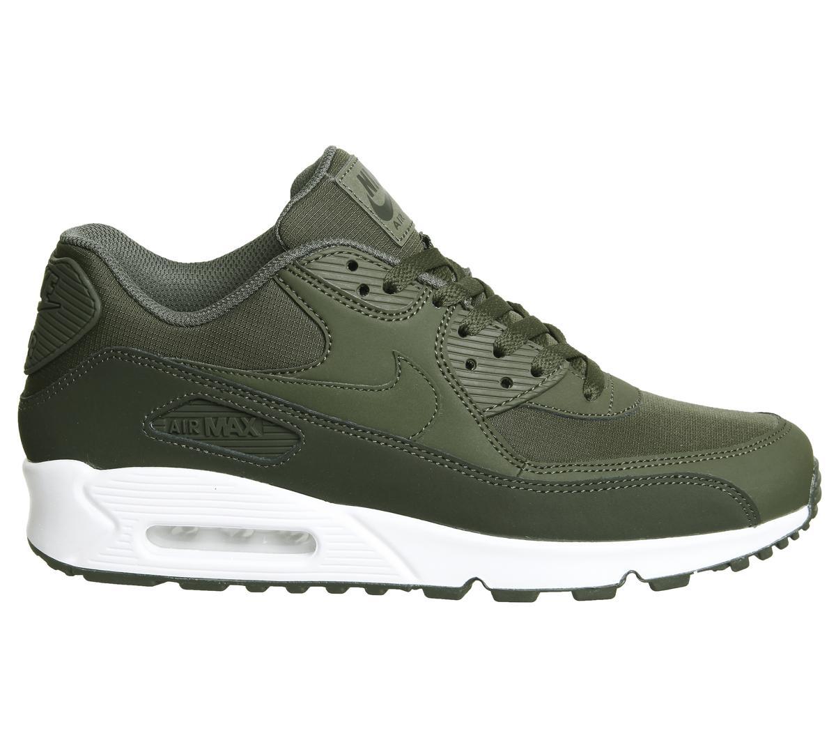 Nike Air Max 90 Trainers Sequoia Khaki White For Men