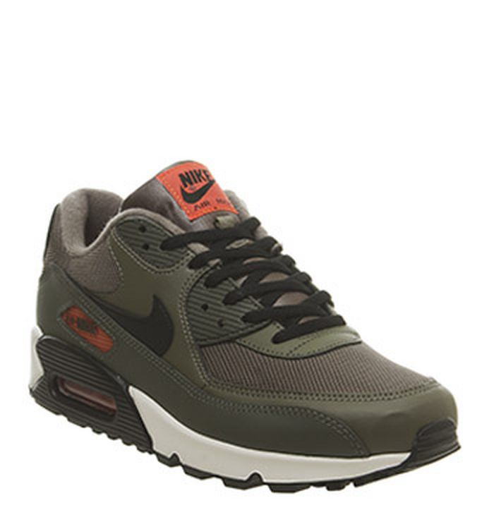 brand new 6290a 43363 08-05-2019 · Nike Air Max 90 Trainers Medium Olive Black Team Orange Cargo  Khaki. £100.00
