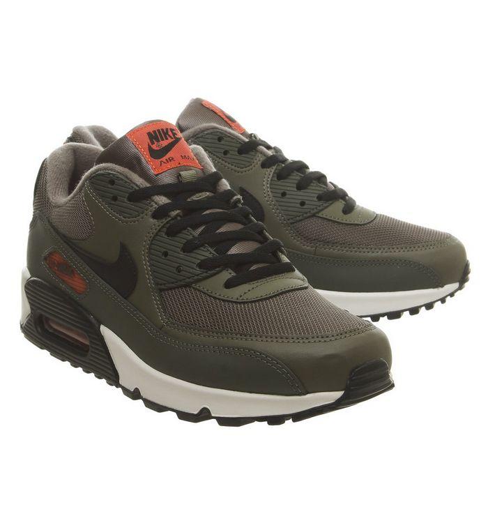 6a48f95346 Air Max 90 Trainers; Nike, Air Max 90 Trainers, Medium Olive Black Team  Orange Cargo Khaki ...