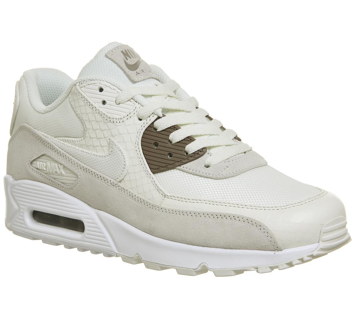 Nike Air Max 90 Premium Mens SailSepia StoneWhite Shoes UK
