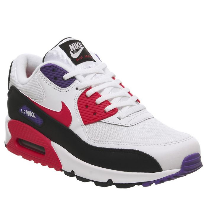b84af9c7 Air Max 90 Trainers; Nike, Air Max 90 Trainers, White Red Orbit Psychic  Purple Black ...