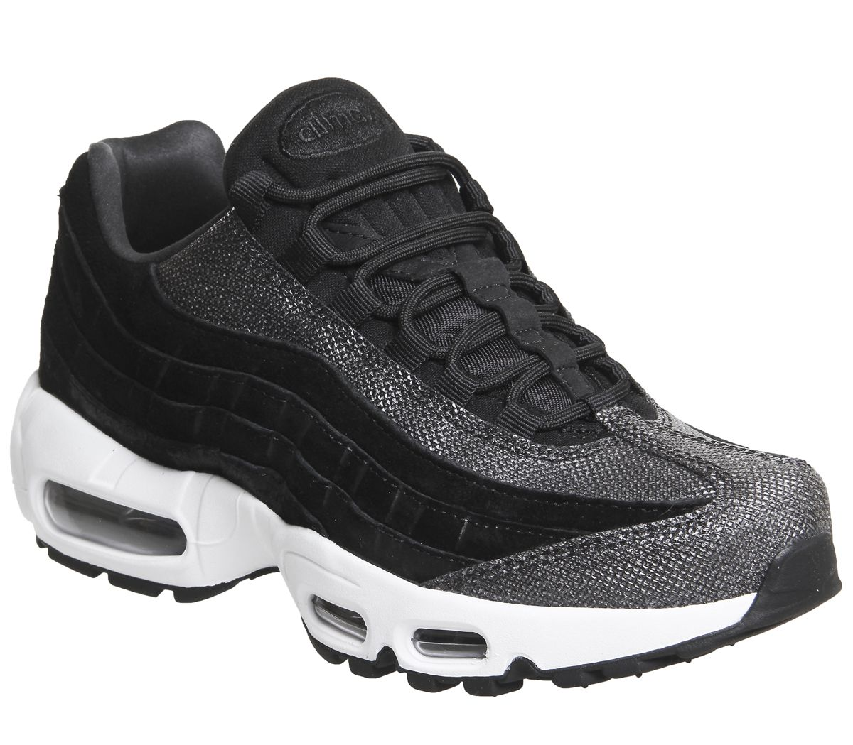 meet be61e 39fd6 Nike Air Max 95 Trainers Black Black White - Unisex Sports
