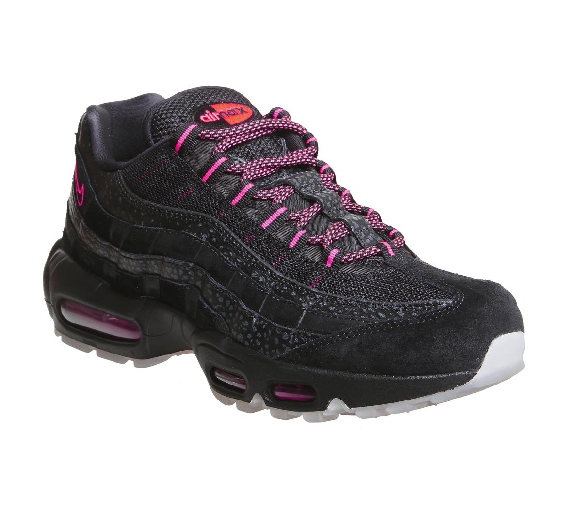 Nike Air Max 95 Trainers Black Infrared