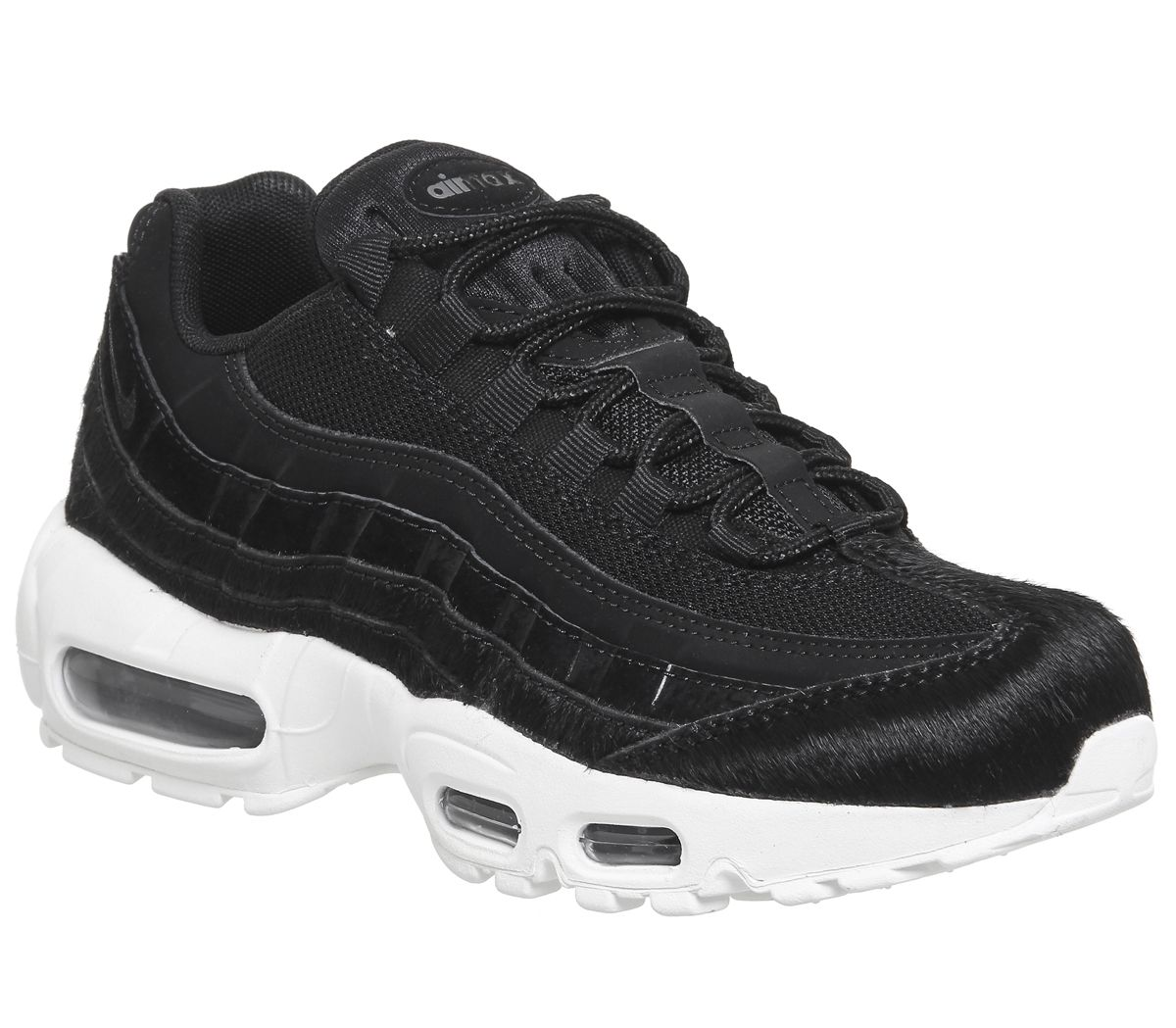 huge discount 40052 c4d3a Nike Air Max 95 Trainers Black White Pony Fur - Hers trainers