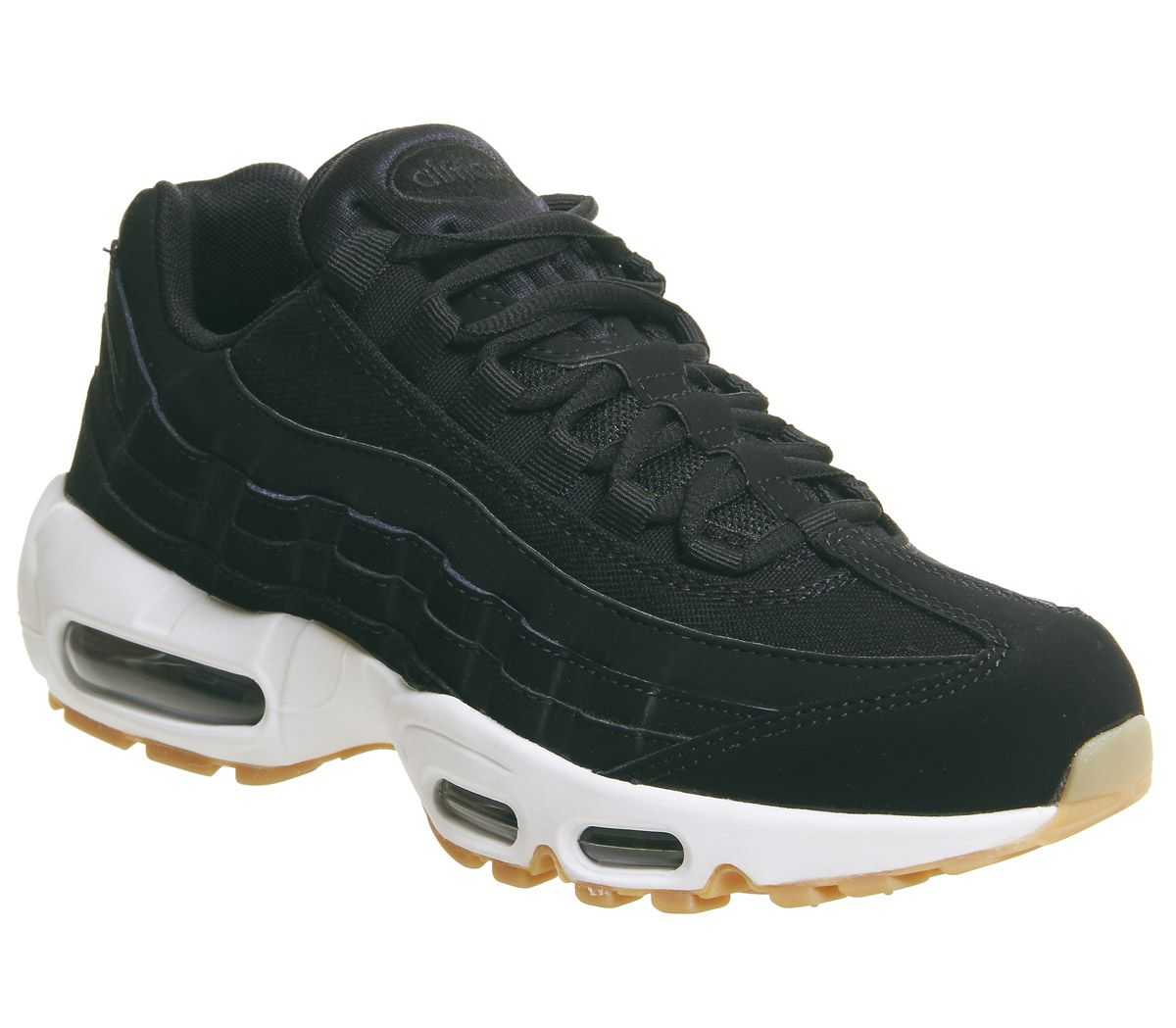 Nike Air Max 95 Trainers Black Anthracite Gum Brown White - Hers trainers