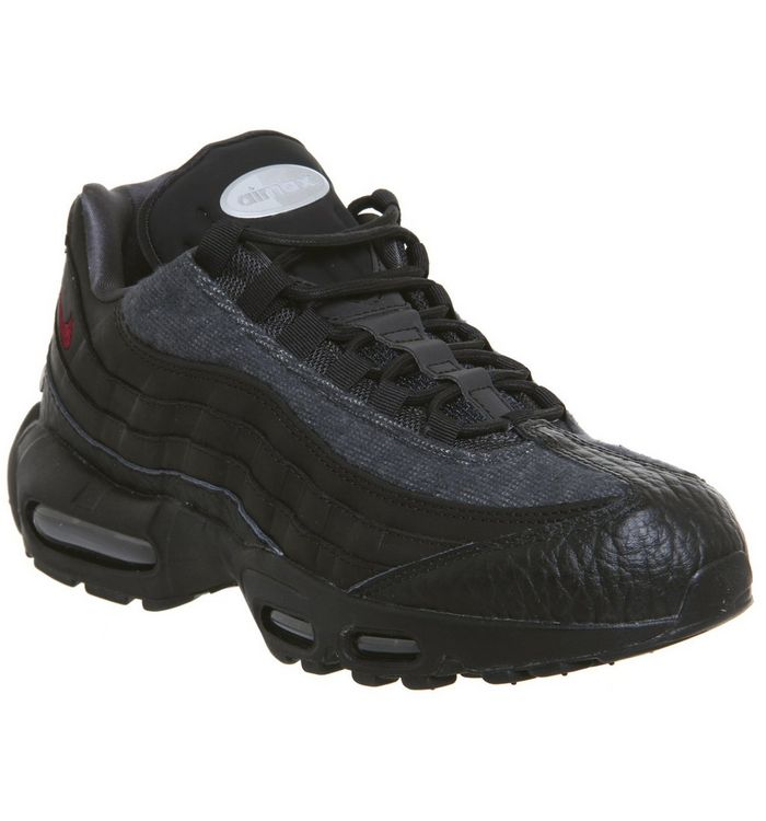 fe4c0ae1ea Air Max 95 Trainers; Nike, Air Max 95 Trainers, Jacket Black Team Red  Anthracite Qs ...