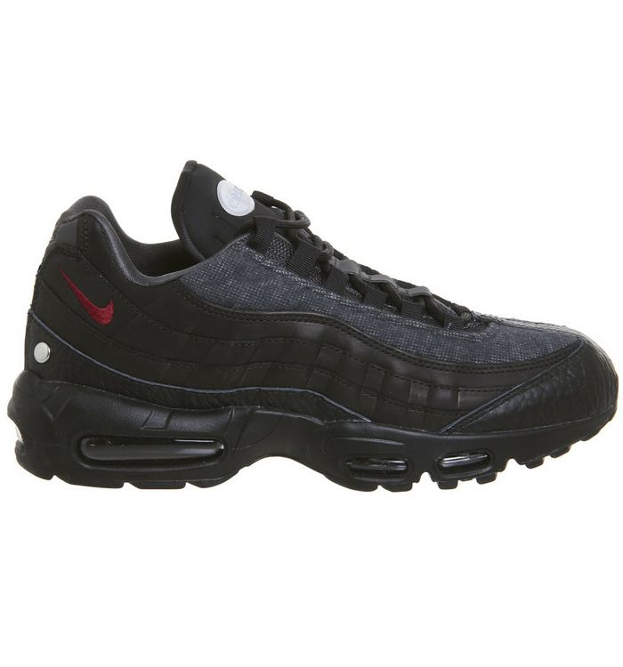 f47f7eb89f Nike, Air Max 95 Trainers, Jacket Black Team Red Anthracite Qs; Air Max 95  Trainers ...