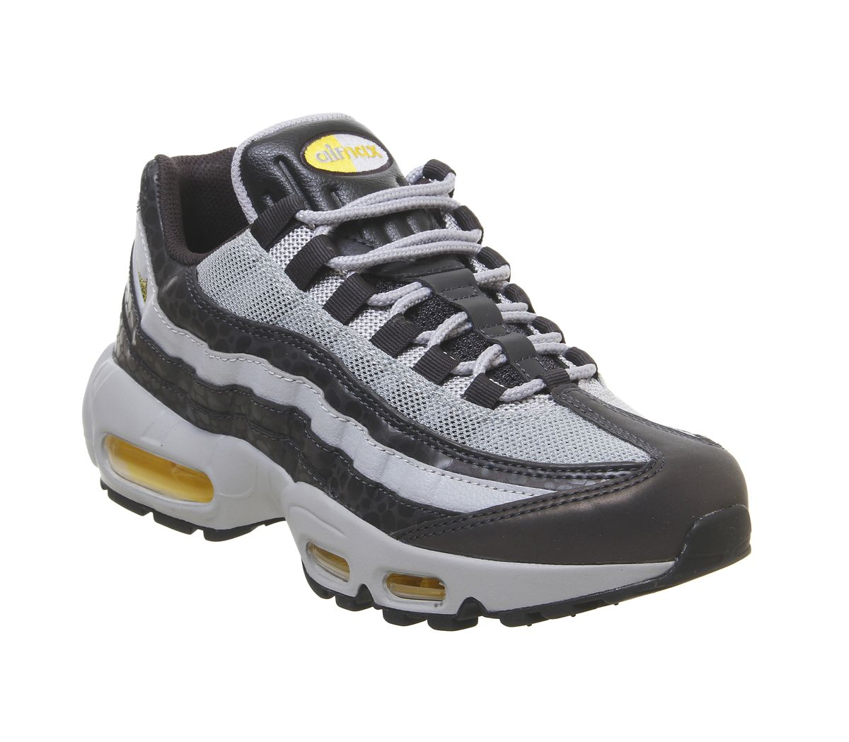 bdea627b076 Nike Air Max 95 Trainers Mekbuda Off Noir Yellow Atmophere Grey ...