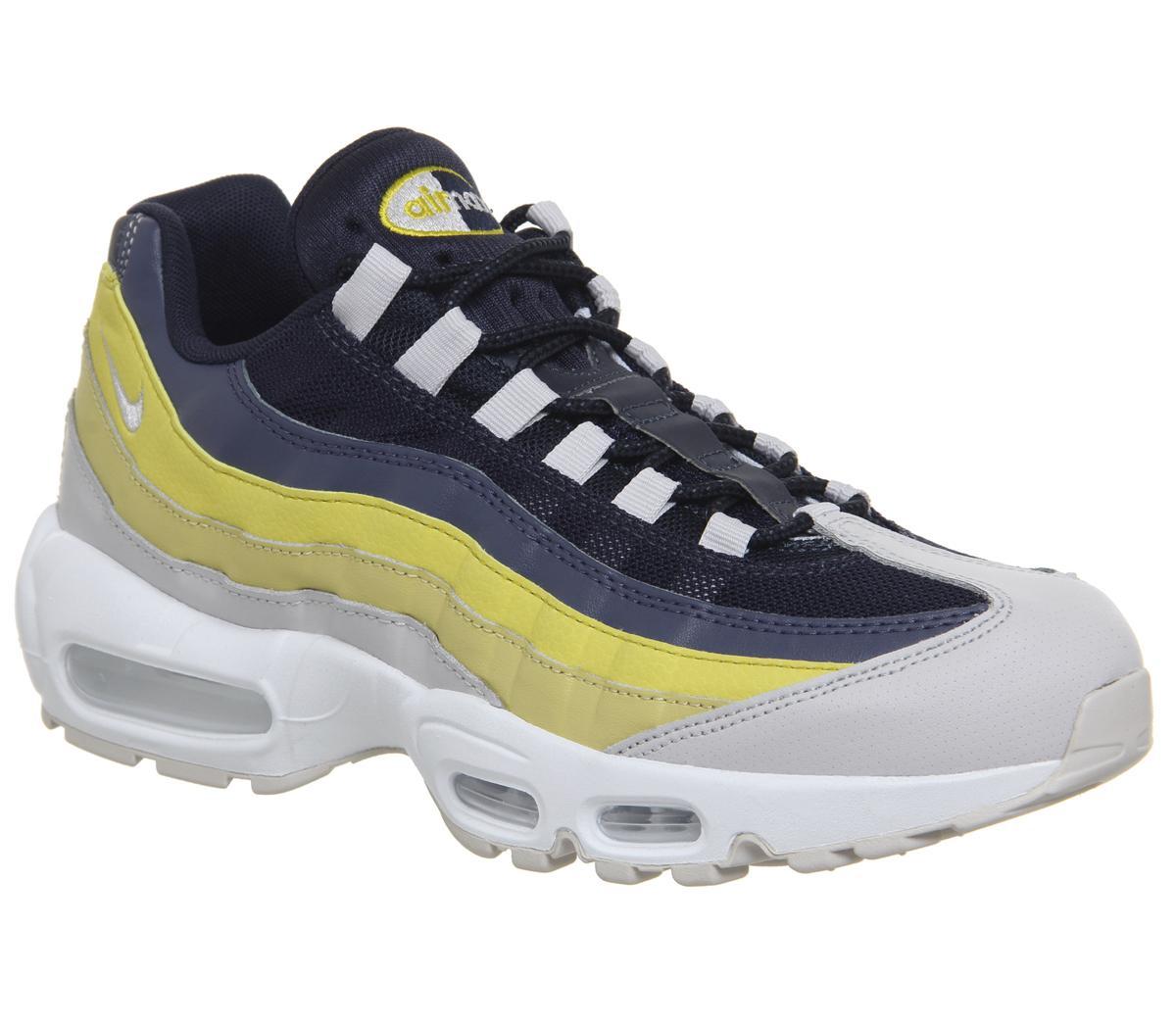 Mens WhiteLemon WashTour YellowVast Grey Nike Air Max 95