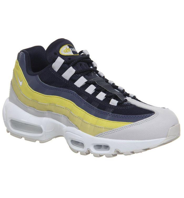 fa9f0541fb Air Max 95 Trainers; Nike, Air Max 95 Trainers, White Vast Grey Lemon Wash  Tour Yellow ...