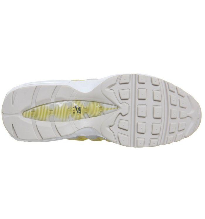8ca3d8cd2c Nike Air Max 95 Trainers White Vast Grey Lemon Wash Tour Yellow ...