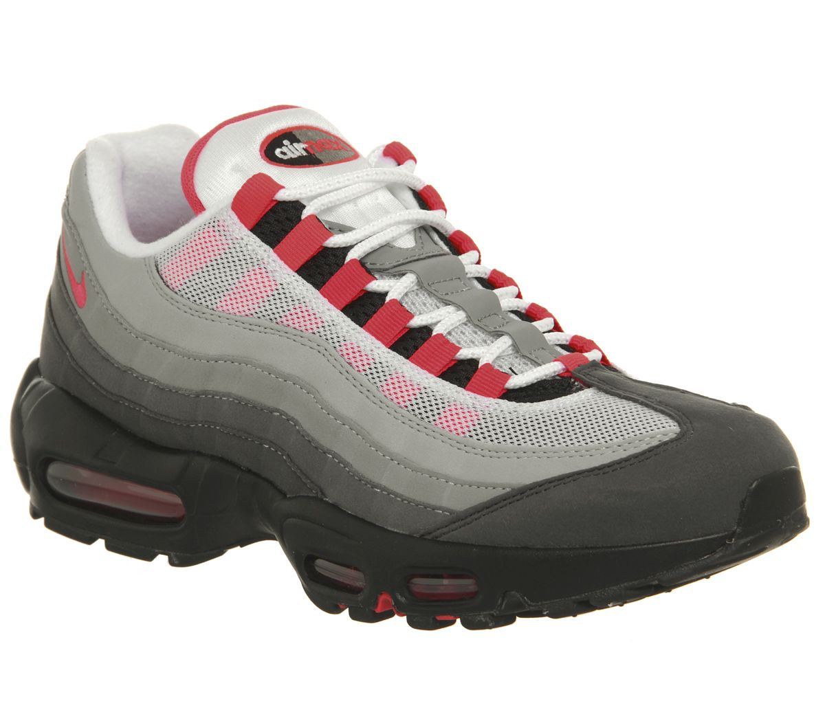 cheap for discount b4ac7 f97f5 Nike Air Max 95 Trainers White Solar Red Granite - Hers trainers
