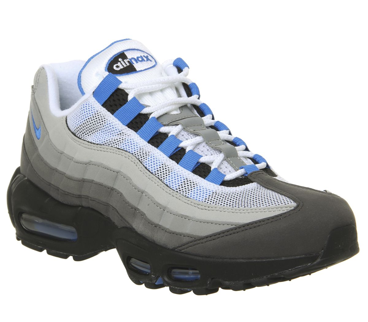 timeless design f3cba d38ad Nike Air Max 95 Trainers White Photo Blue Granite Dust - His trainers