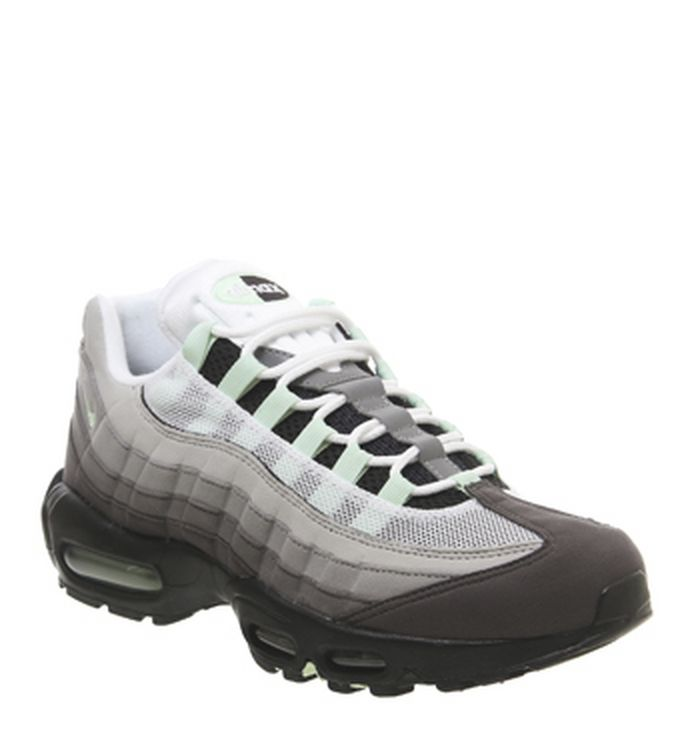 bfe3a13675a6 Launching 10-05-2019. Nike Air Max 95 Trainers White Fresh Mint Granite Dust