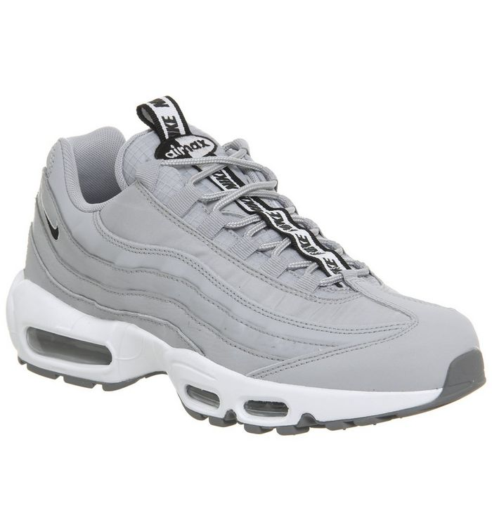 7a7de5064f Air Max 95 Trainers; Nike, Air Max 95 Trainers, Wolf Grey Black White Cool  Grey ...