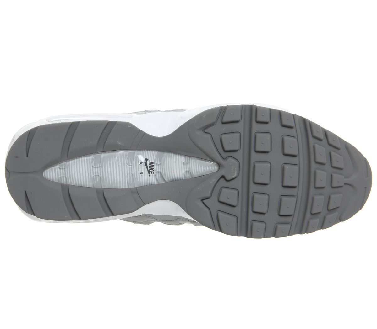 4f868d04a9 Air Max 95 Trainers. Double tap to zoom into the image. Nike, Air Max 95  Trainers, Wolf Grey Black White Cool ...
