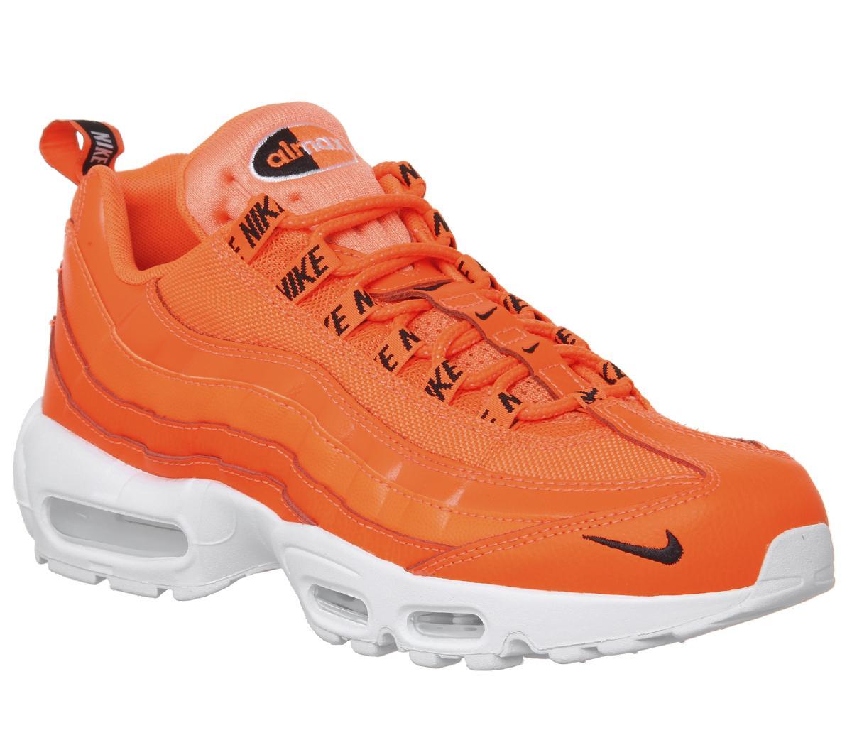 Rabatt Nike Air Max 95 Herren Sneaker Schuhe Weiß Orange