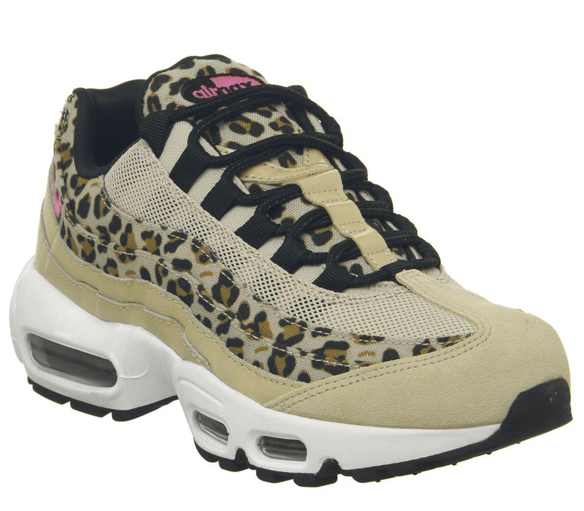online store b6331 f49cf Nike Air Max 95 Trainers Desert Ore Wheat Leopard - Hers ...