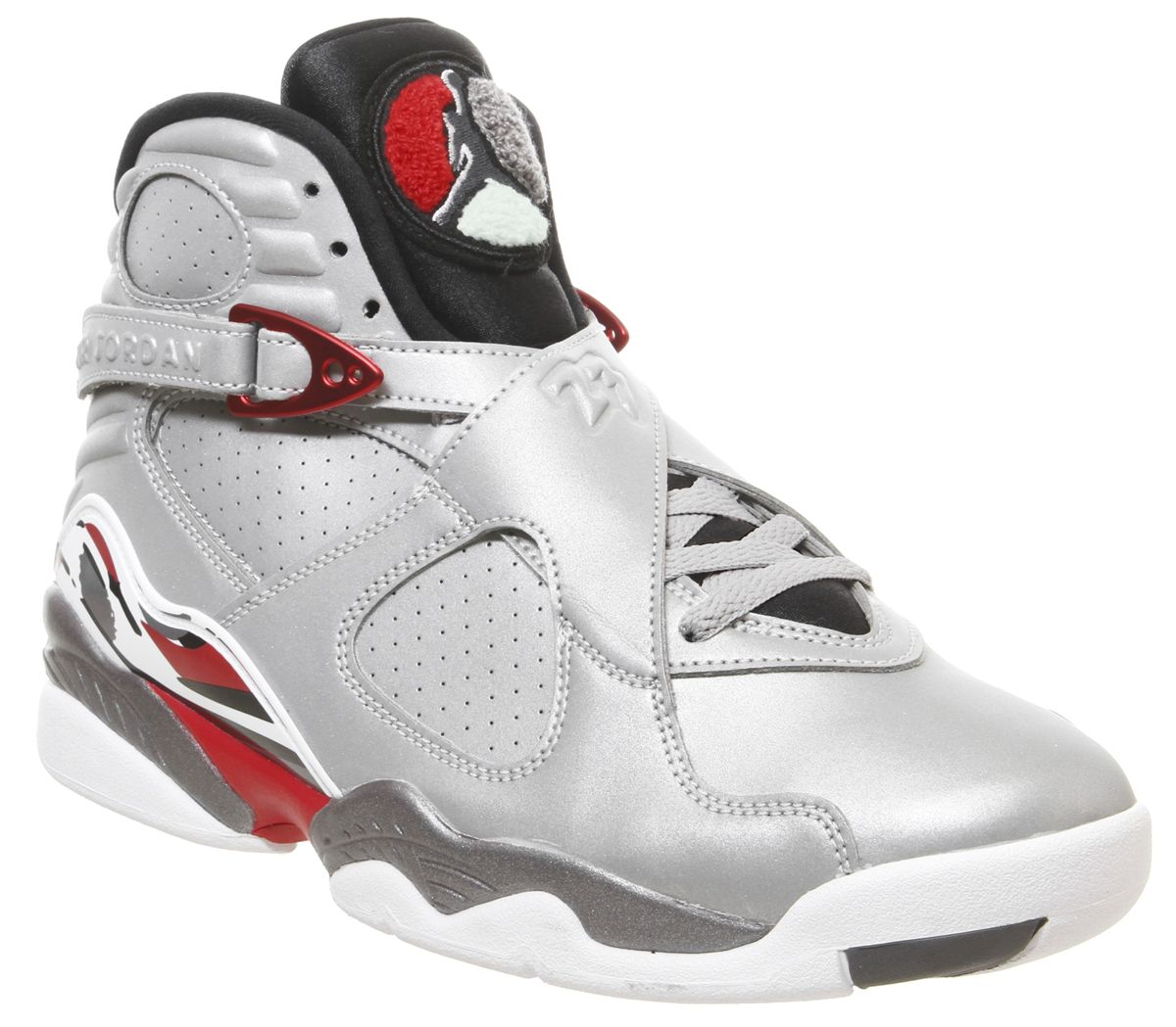 sélection premium 2bf4e 0dc8a Jordan Air Jordan 8 Retro Trainers Reflect Silver Hyper Blue ...
