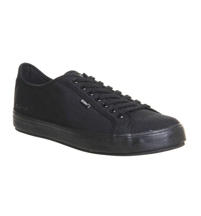 154b9574fb Kickers Reason Lace Shoes Black Leather - Smart