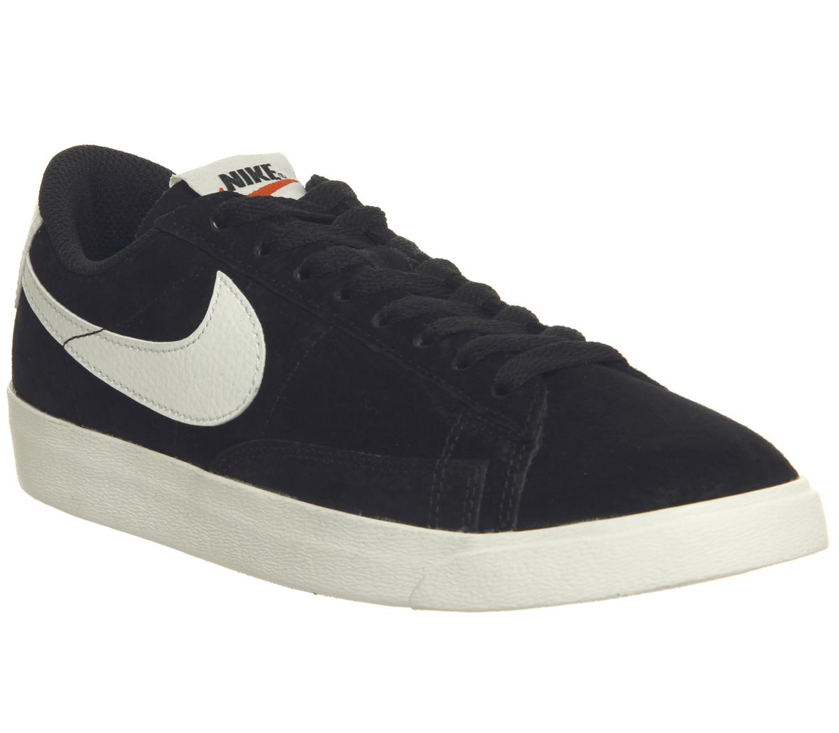 brand new a498e 86a15 Nike Blazer Low Trainers Black White F - Hers trainers