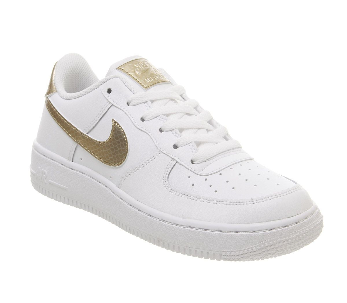32ce450aa46 Nike Air Force 1 Trainers White Blush Gold - Hers trainers