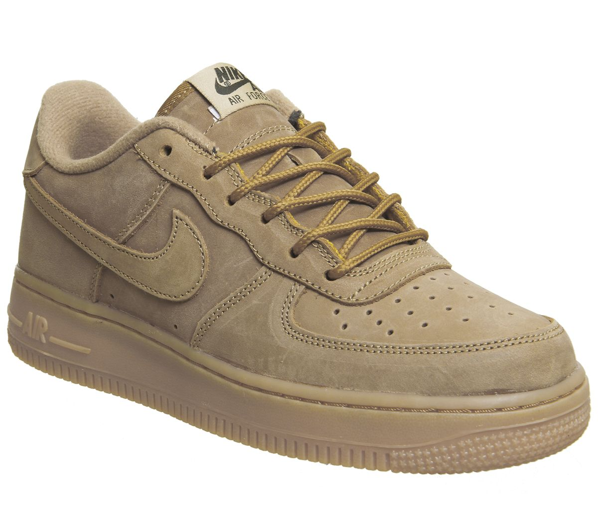 watch f15ae 32aac Nike Air Force 1 Trainers Flax Flax Gum Light Brown - Hers trainers