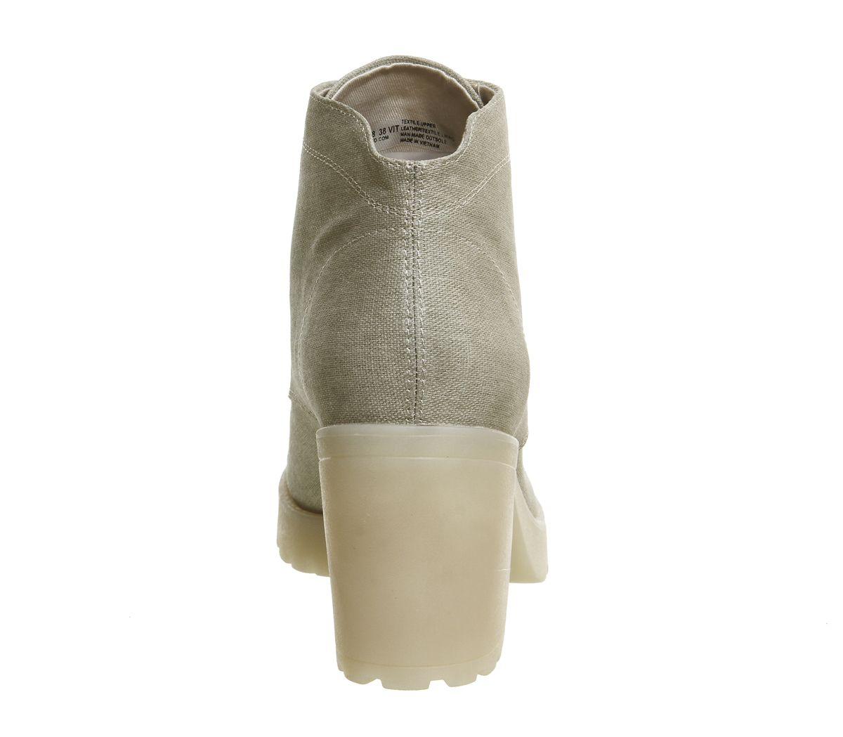 5800c98e0c2704 Vagabond Grace Lace Up Boots Chino Canvas - Ankle Boots