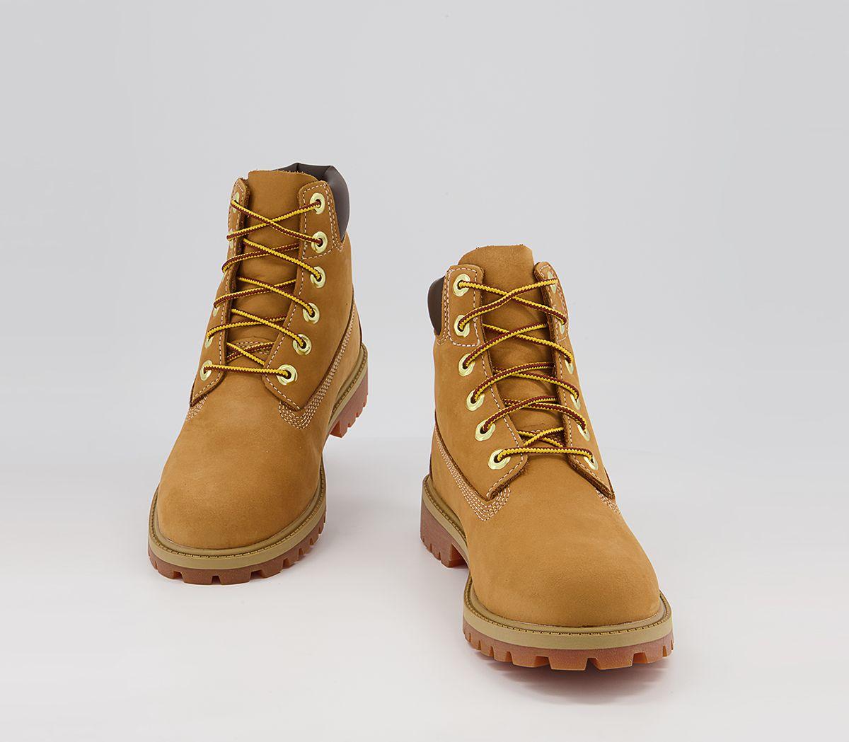 f802689d0dac5f Timberland Juniors 6 Inch Premium Waterproof Boots Wheat Nubuck ...